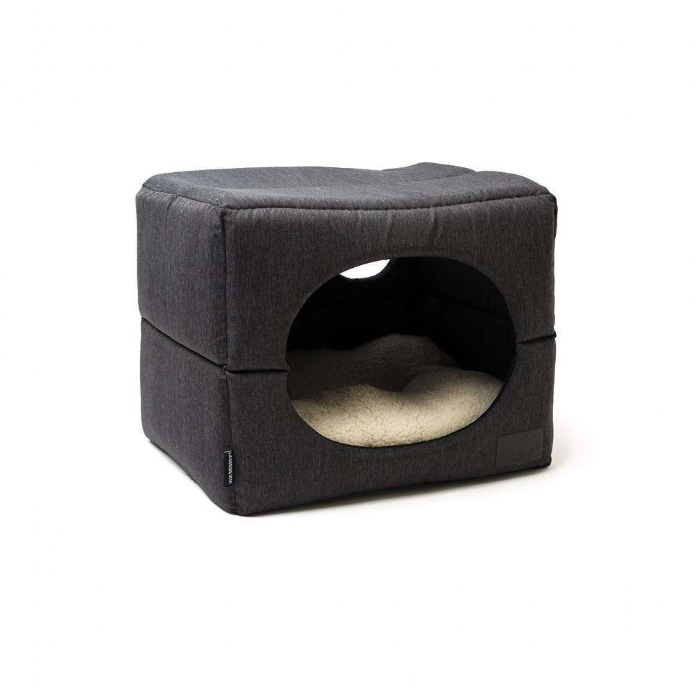 La Doggie Vita Charcoal Cube Dog Bed Medium
