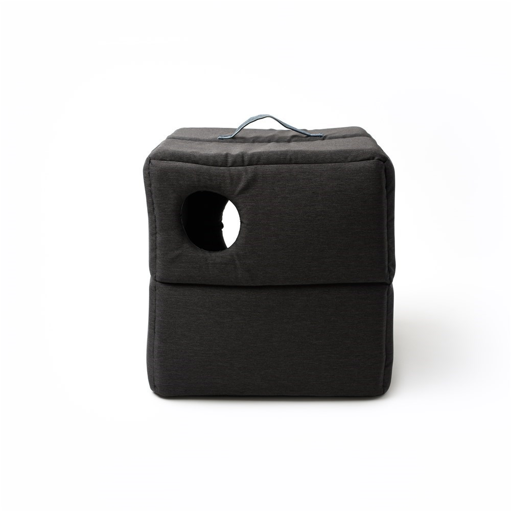 La Doggie Vita Charcoal Cube Cat Bed