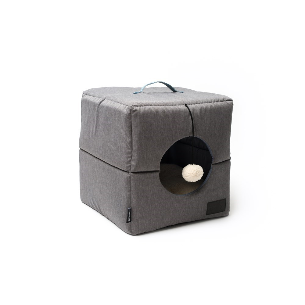 La Doggie Vita Grey Cube Cat Bed