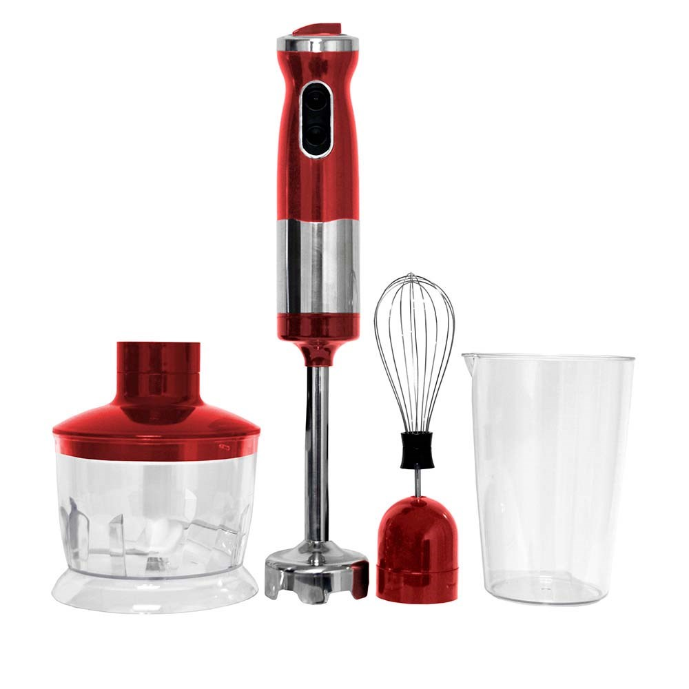 Healthy Choices Stick Mixer Set Red