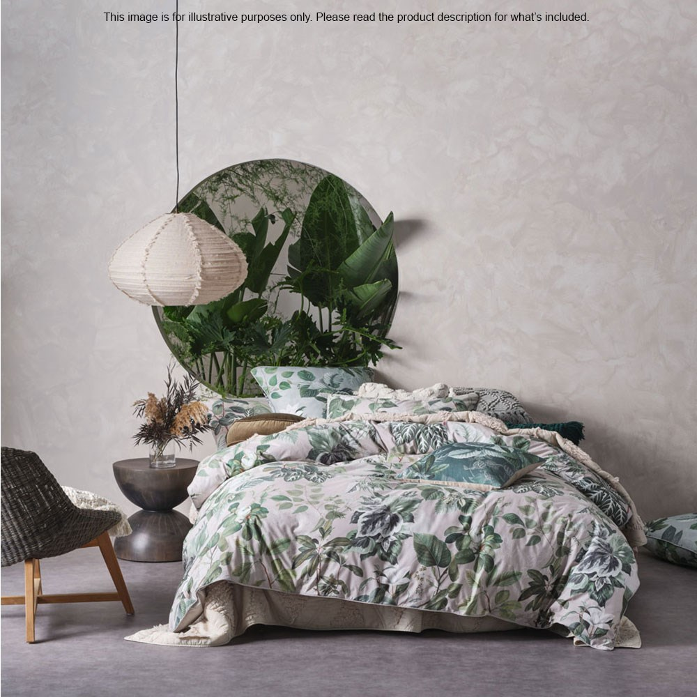 Linen House Forestry Stone Queen Bed Quilt Cover Set