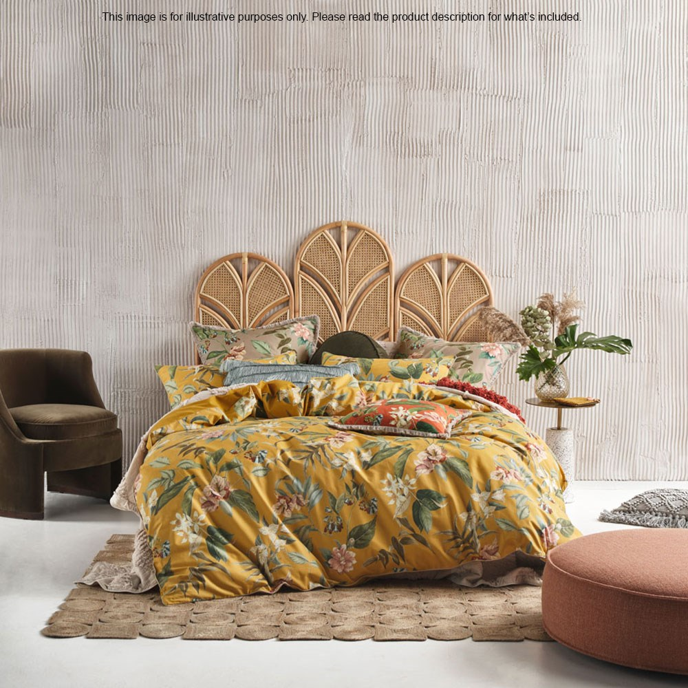 Linen House Anastacia Chai King Bed Quilt Cover Set