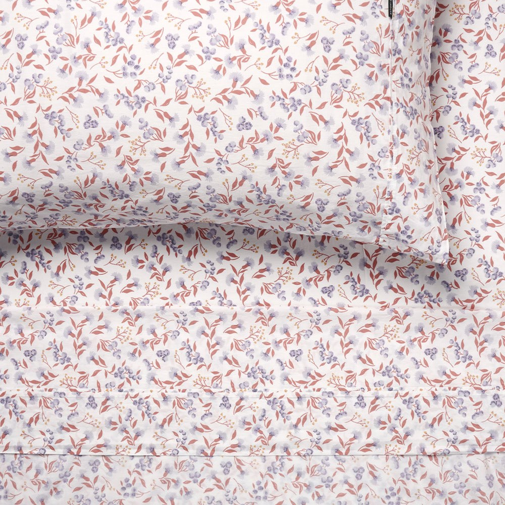 Linen House Matilda Peach Queen Bed Sheet Set
