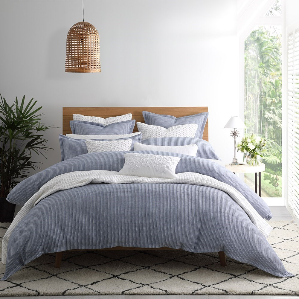 Private Collection Dash Chambray Queen Bed Quilt Cover Set