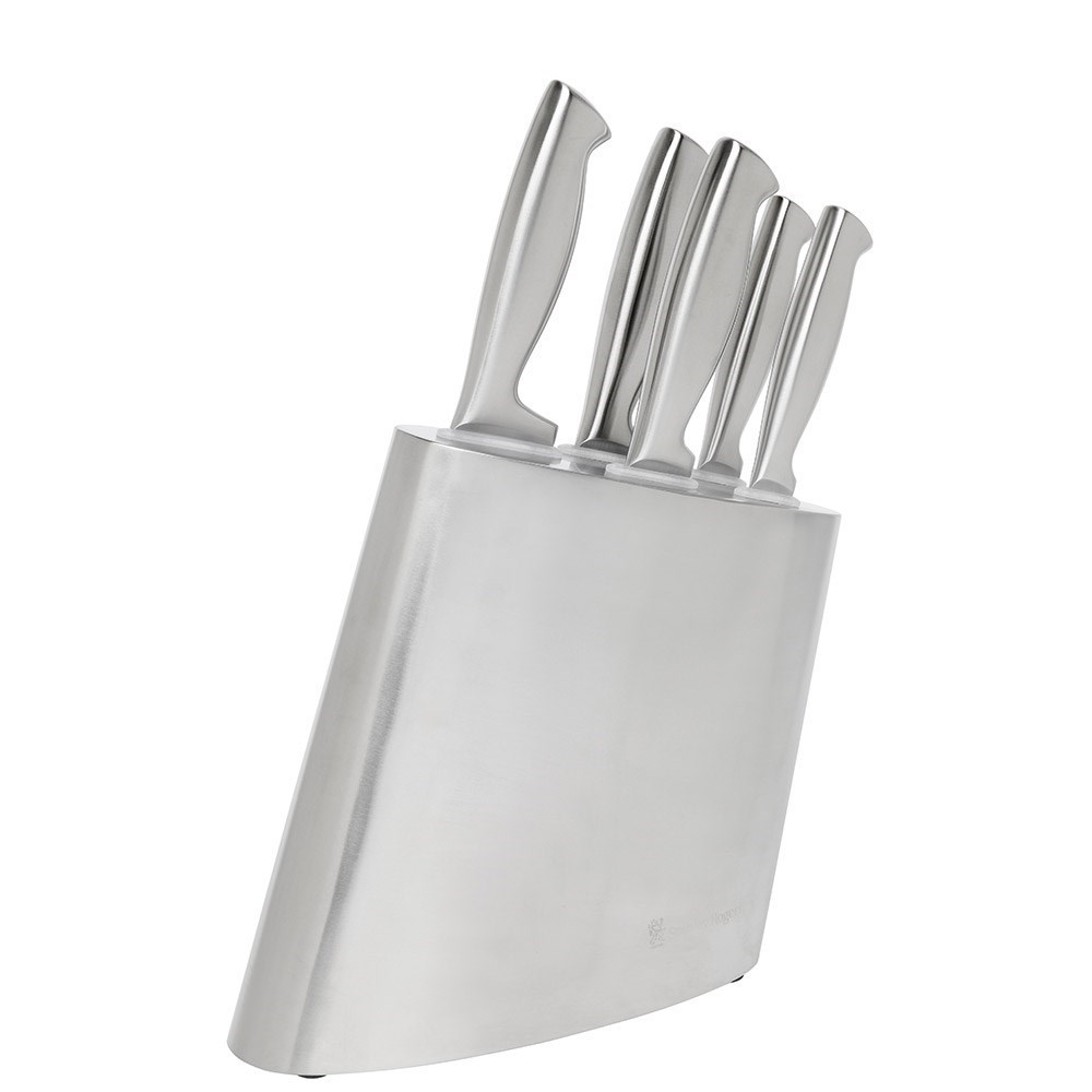 Stanley Rogers Modern Steel 6-Piece Knife Block