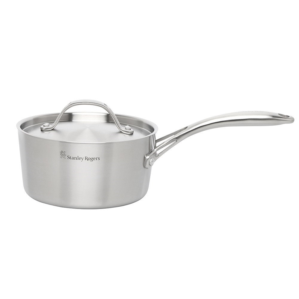 Stanley Rogers Conical TRI-PLY Stainless Steel Saucepan with Lid 16cm