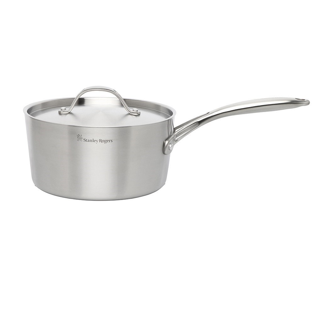 Stanely Rogers Conical TRI-PLY Stainless Steel Saucepan with Lid 20cm