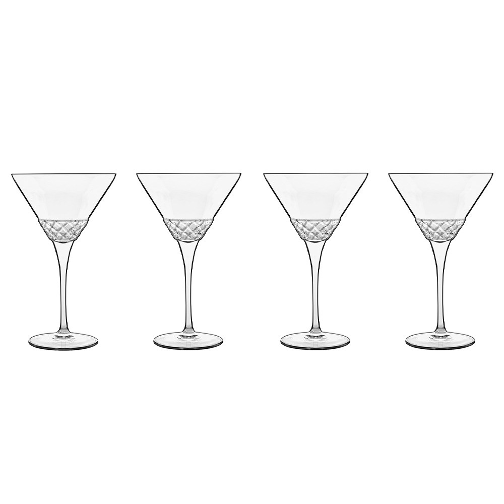 Luigi Bormioli Roma 4 Piece 1960 Martini Glass Set 220ml