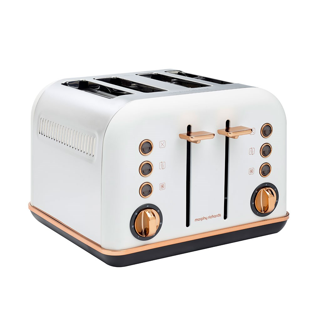 Morphy Richards Accent Rose 4 Slice Toaster Matte White