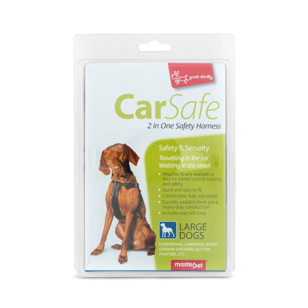 Yours Droolly Dog Car Harness Large