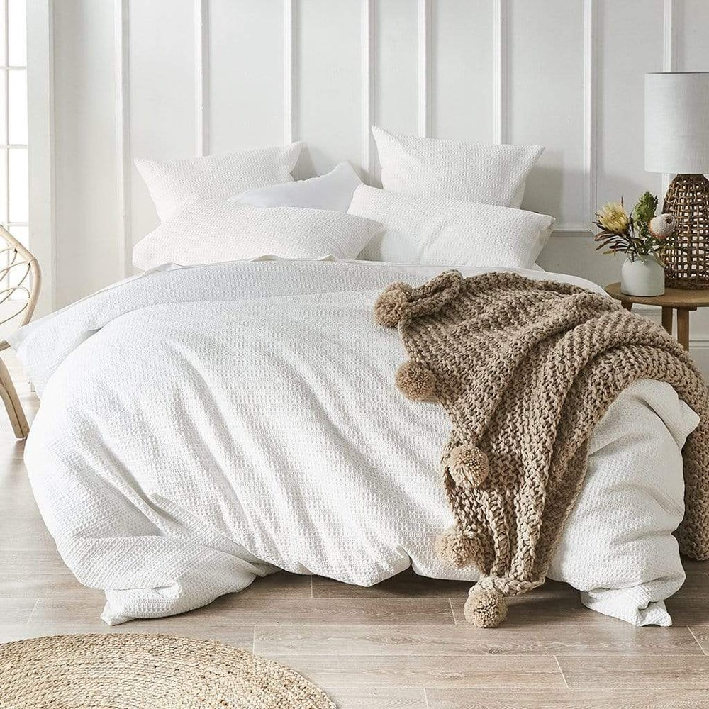 MyHouse Hartley Single Bed Quilt Cover Set White