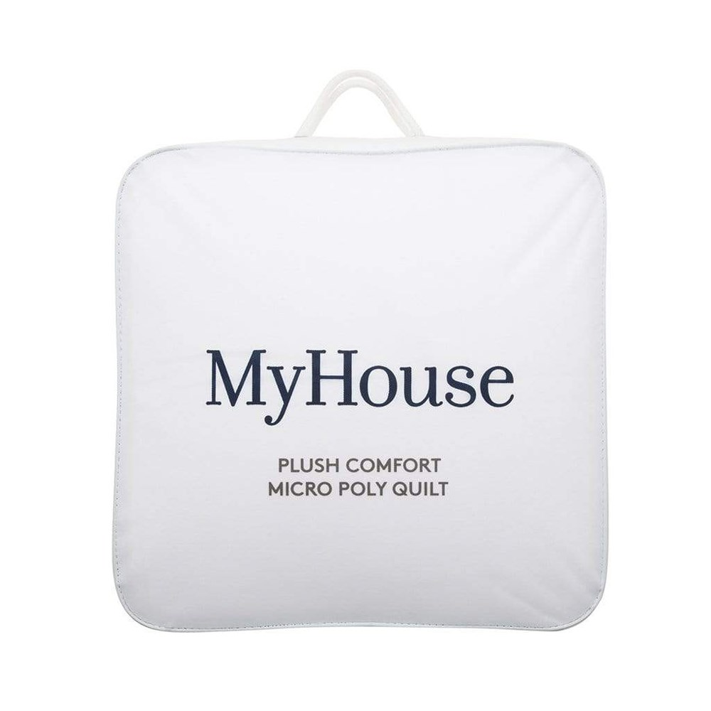 MyHouse Plush Comfort Micropoly Blend Queen Bed Quilt