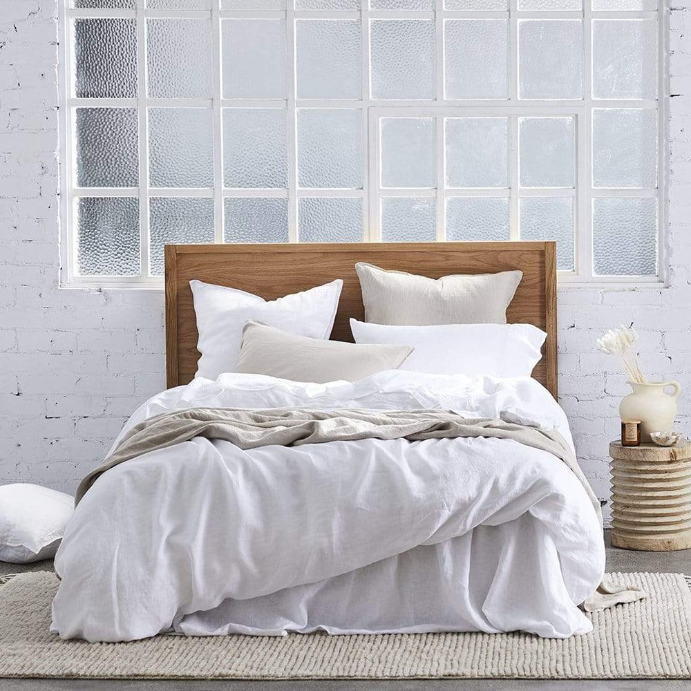 MyHouse Vintage Queen Bed Quilt Cover Set White