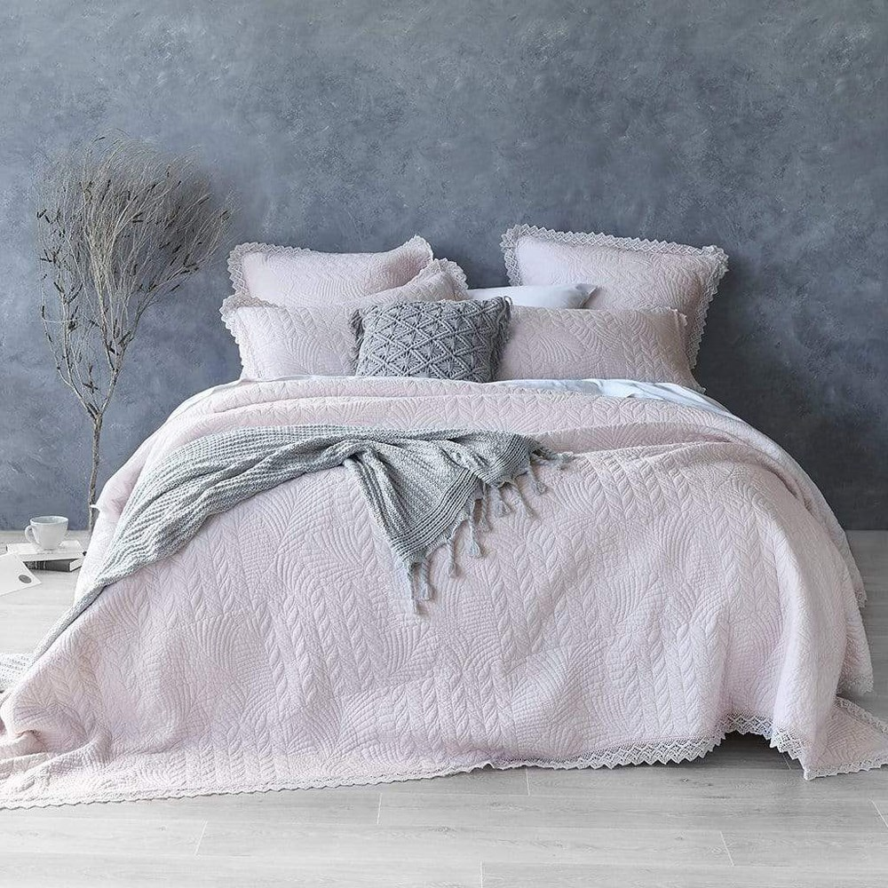 MyHouse Kimberley King Single Coverlet Pink