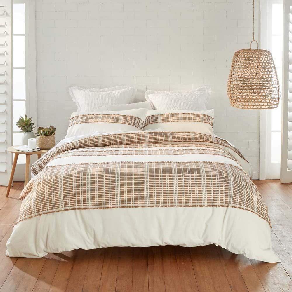 MyHouse Shadow Almond Quilt Cover Set Double