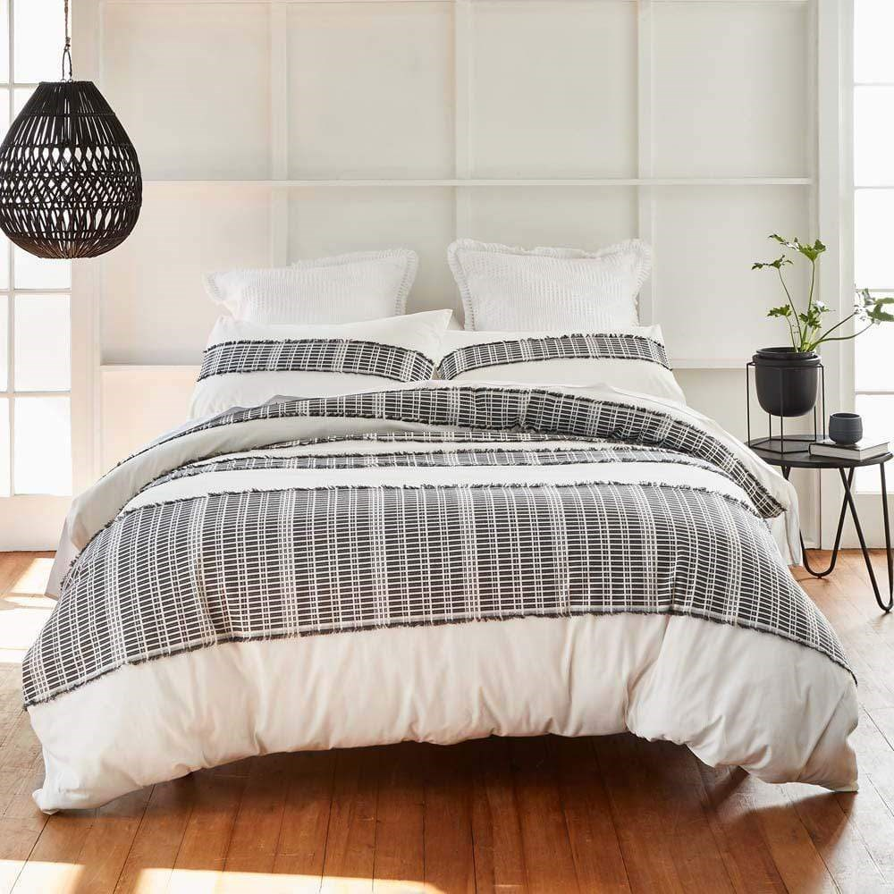 MyHouse Shadow Graphite Quilt Cover Set Double