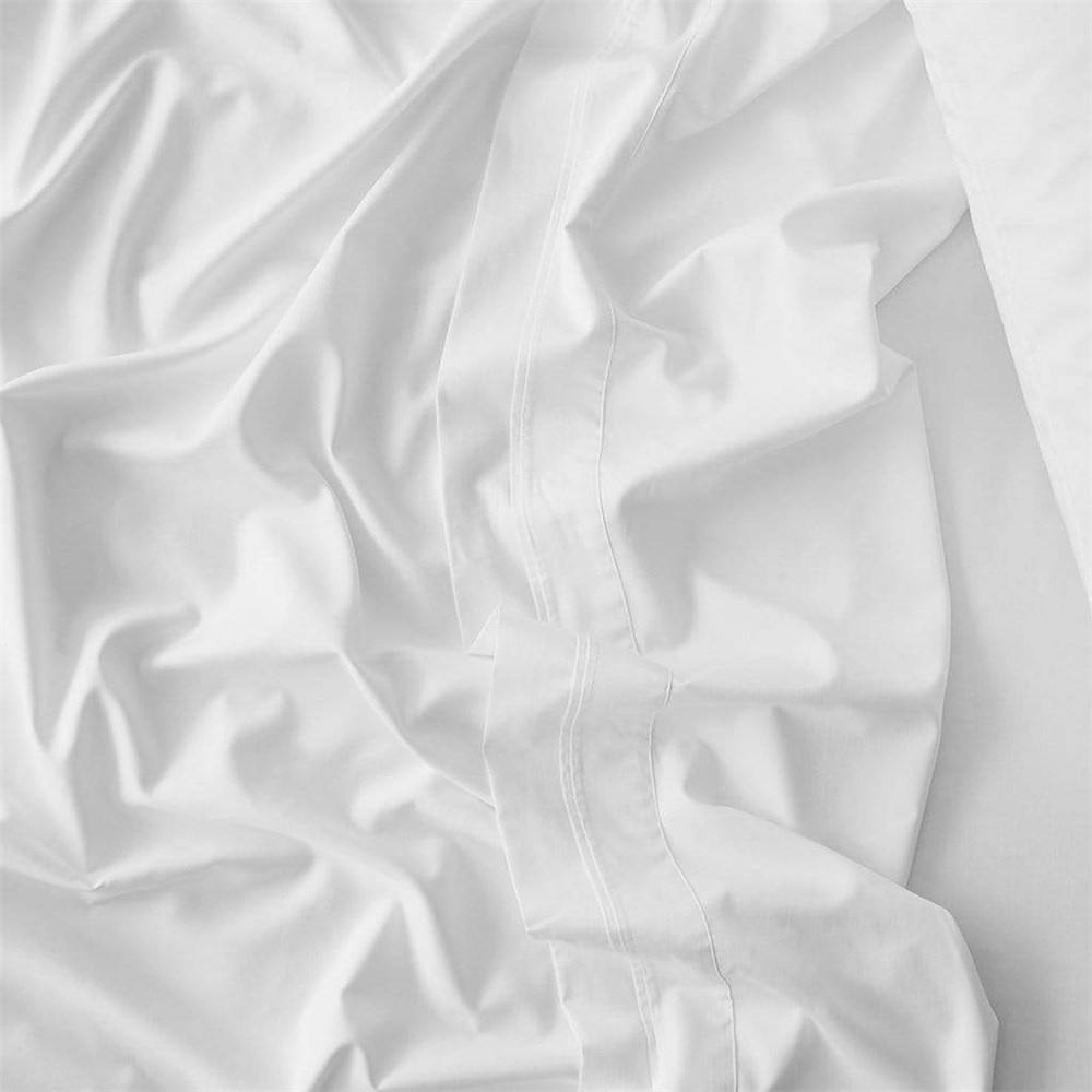 MyHouse Riley Bamboo Cotton Fitted Sheet Super Queen White