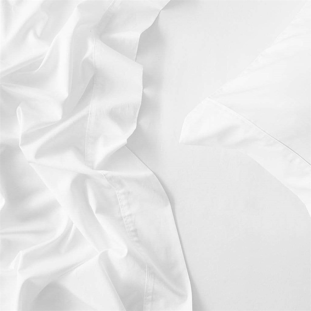 MyHouse Reyne Tencel Fitted Sheet Super Queen White