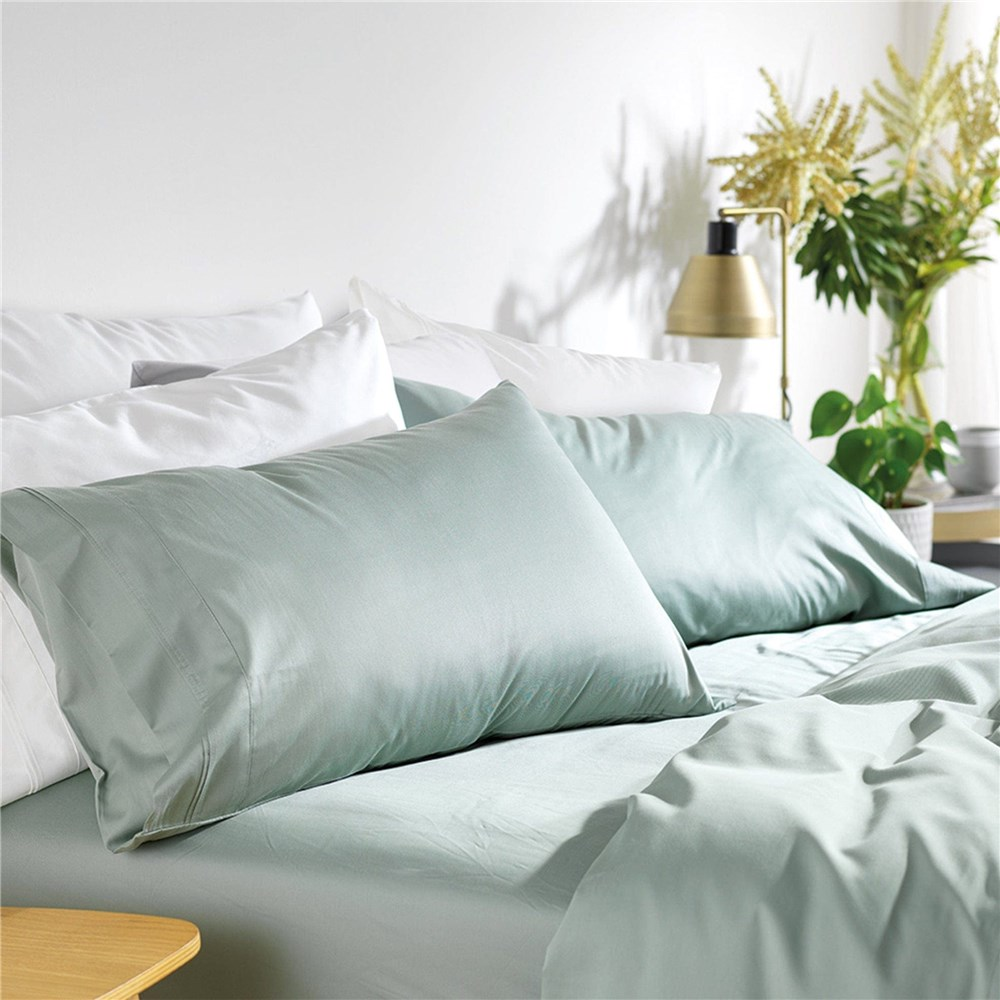 MyHouse Riley Bamboo Cotton Sheet Set King Single Sage