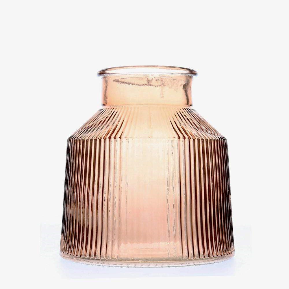 MyHouse Glass Vase Ribbed Small