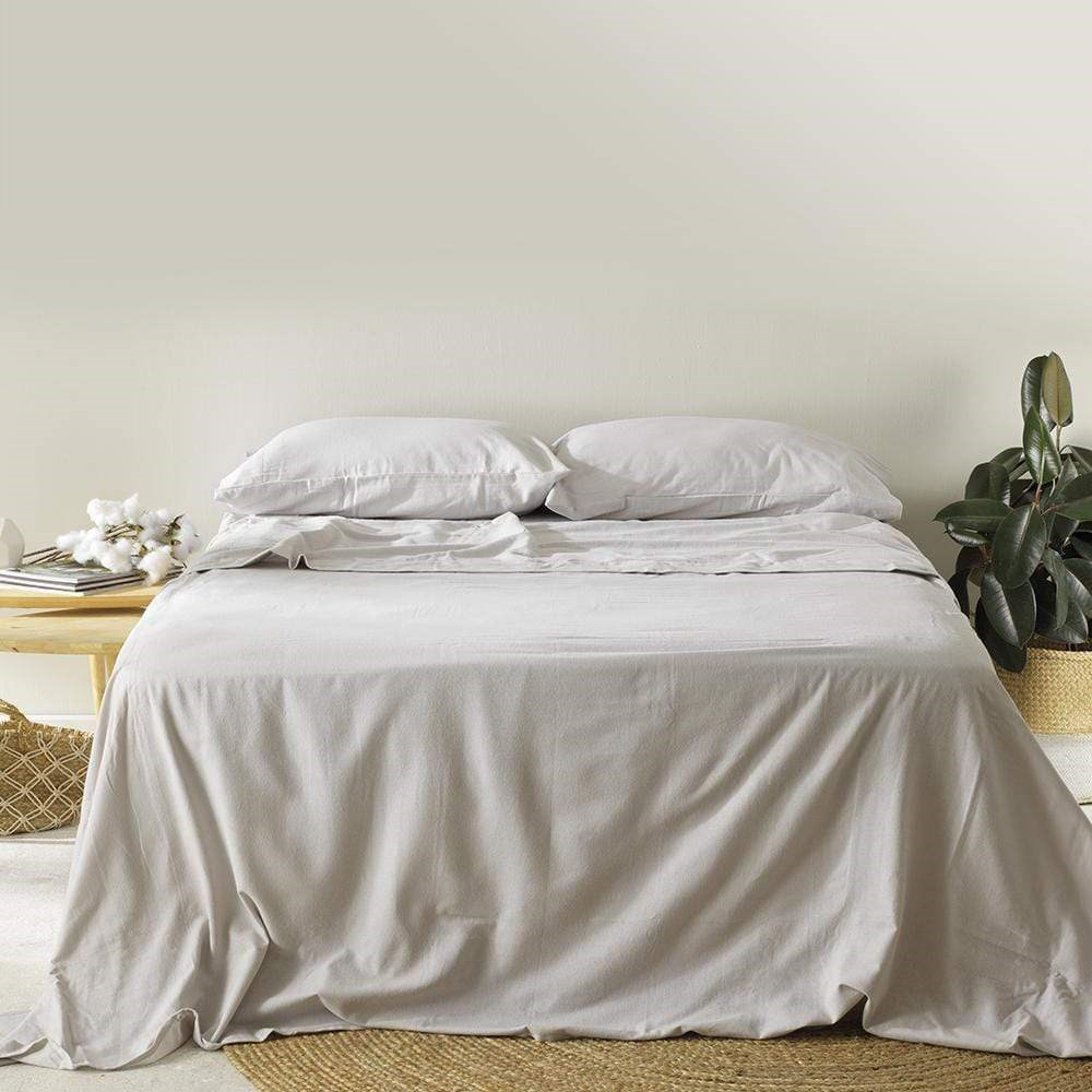 MyHouse Cotton Flannelette Sheet Set Single Mink