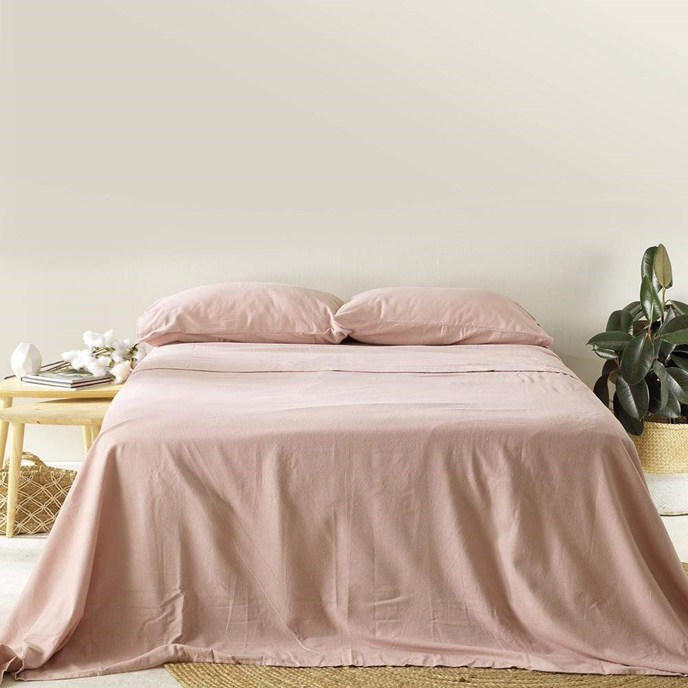 MyHouse Cotton Flannelette Sheet Set King Rose