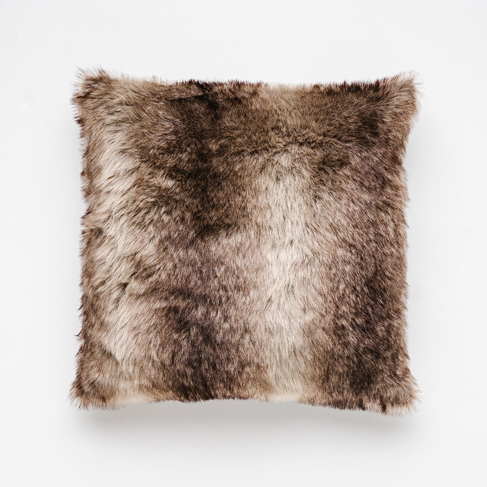 MyHouse Luxe Fur Cushion Brown