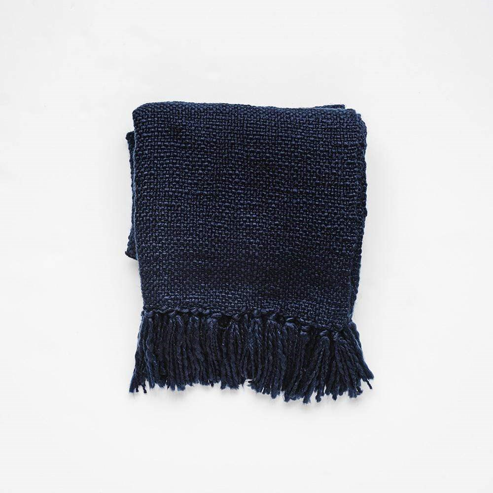 MyHouse Home Retreat Knitted Throw Navy