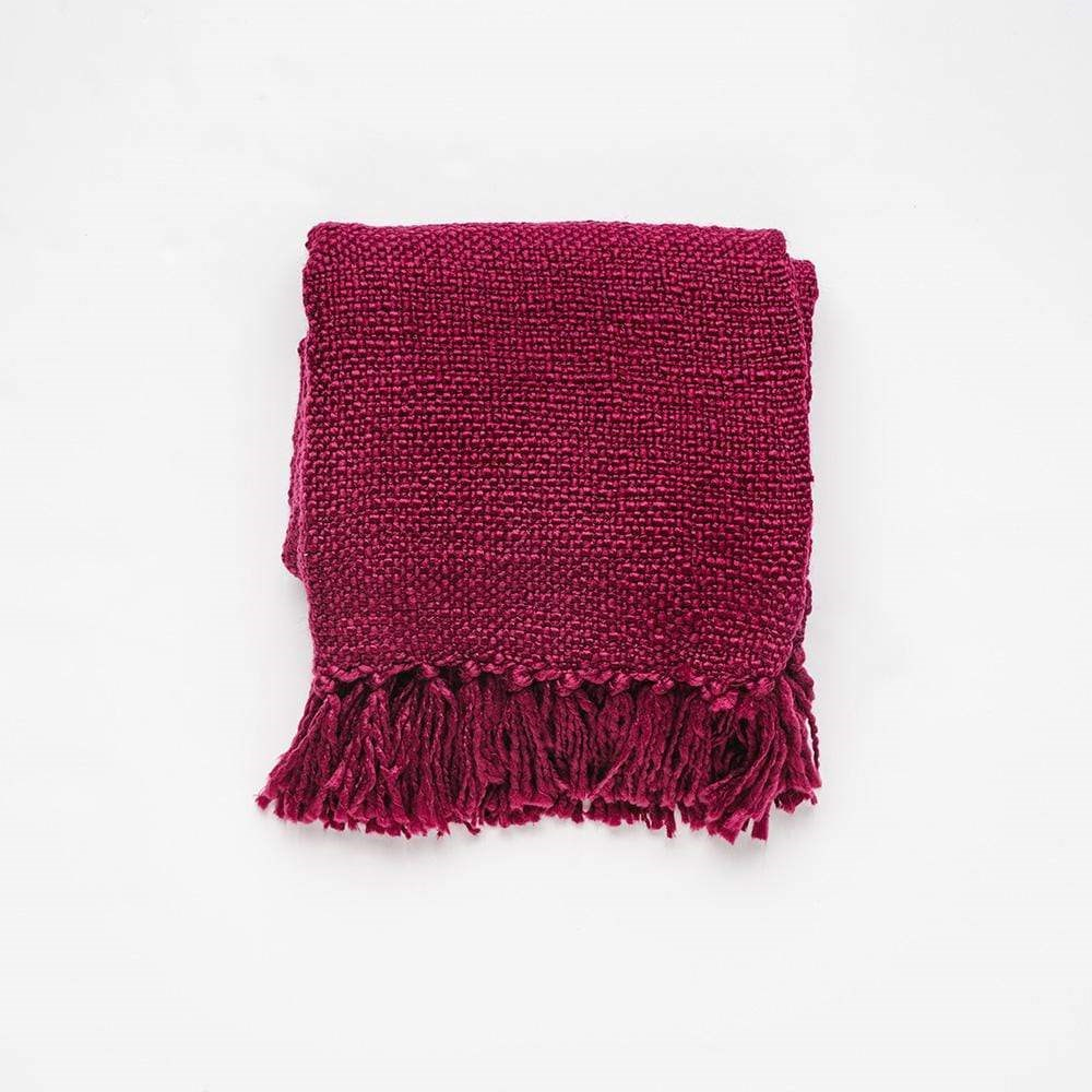 MyHouse Home Retreat Knitted Throw Berry