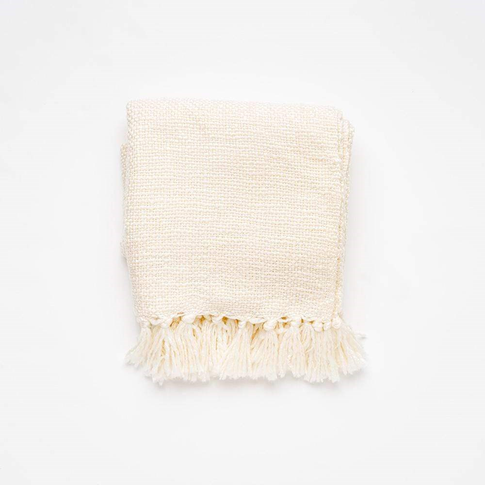 MyHouse Home Retreat Knitted Throw Cream