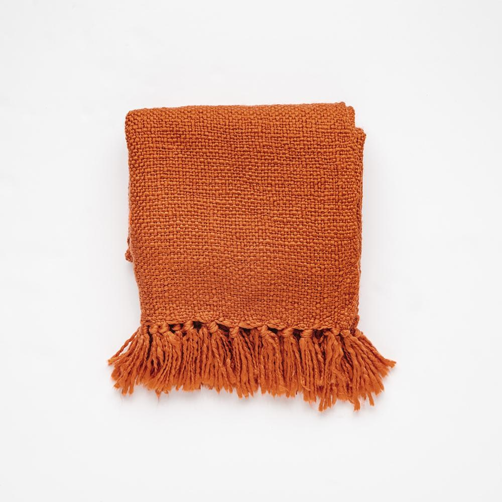 MyHouse Home Retreat Knitted Throw Rust