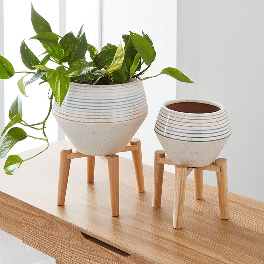 Alex Liddy Ceramic Planter with Stand Small