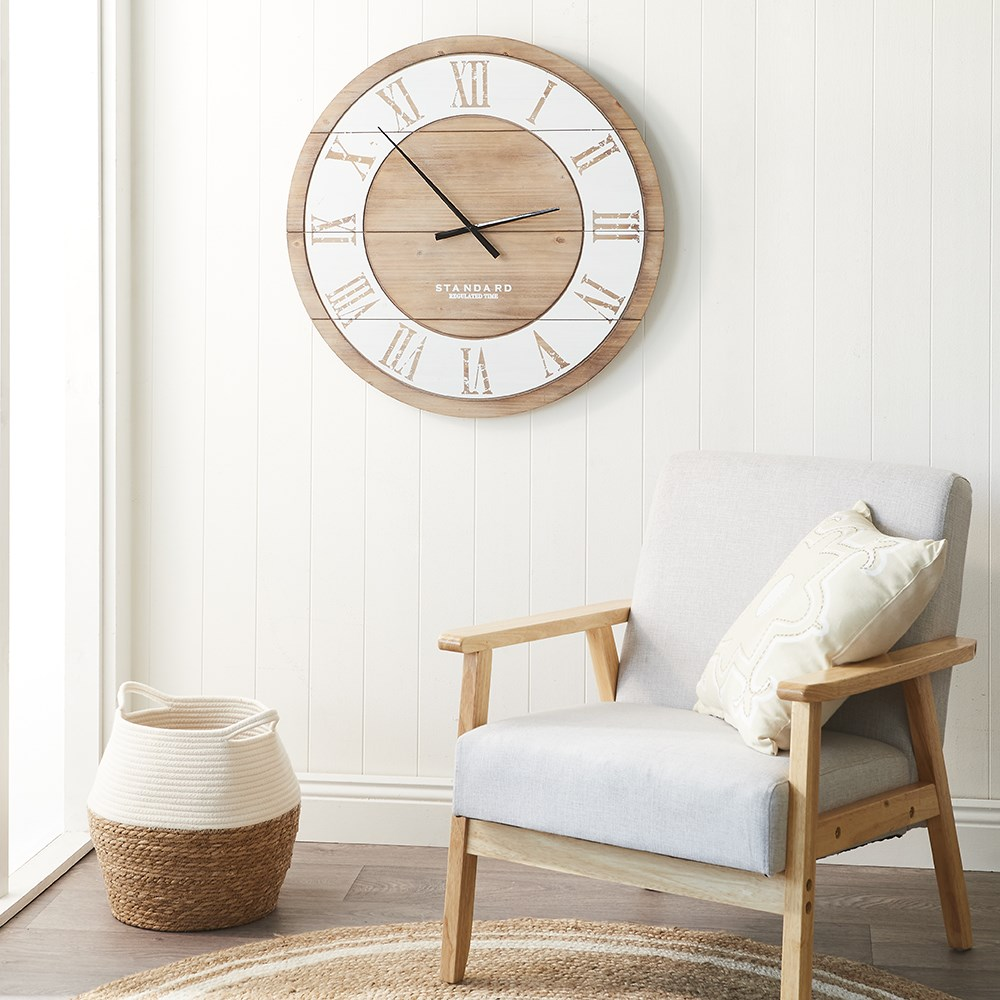 MyHouse Large Wooden Clock