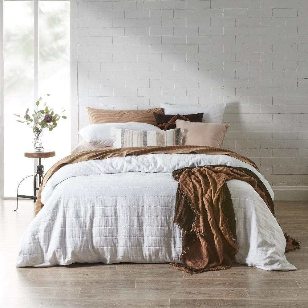 Neale Whitaker Braemar Quilt Cover Queen White