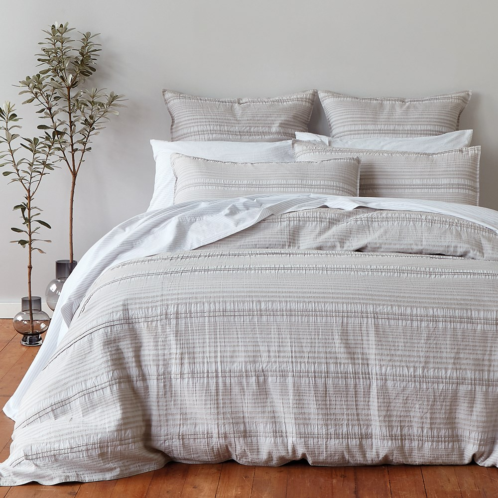 Neale Whitaker Gerroa Quilt Cover Queen Oyster