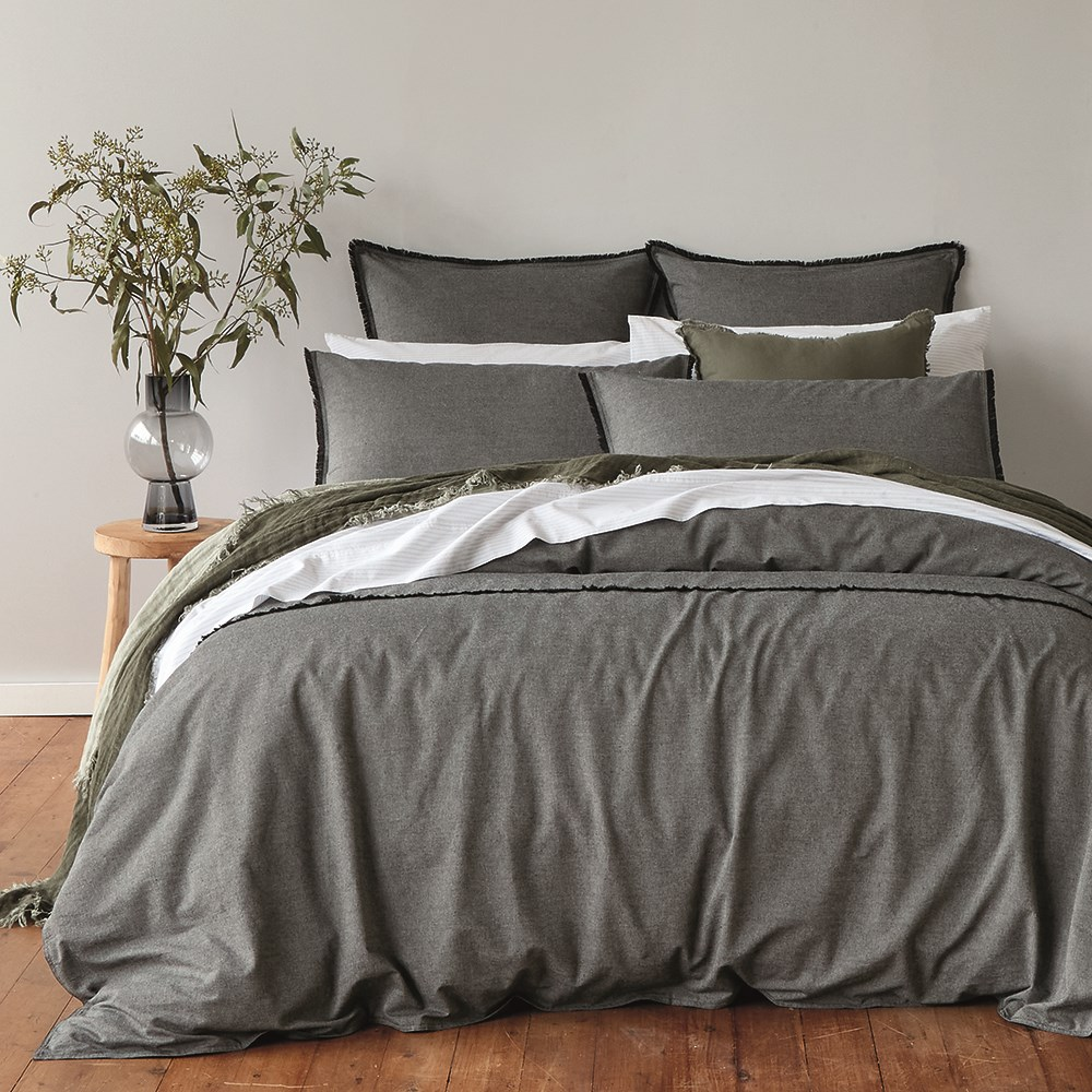 Neale Whitaker Burrawang Chambray Quilt Cover Super King