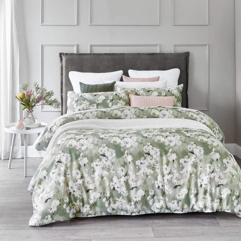 MyHouse Ellery Sage Quilt Cover Setv Queen