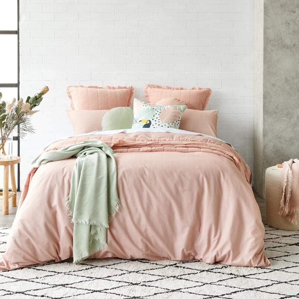 Alex Liddy Edit Stone Wash Quilt Cover Queen Rose