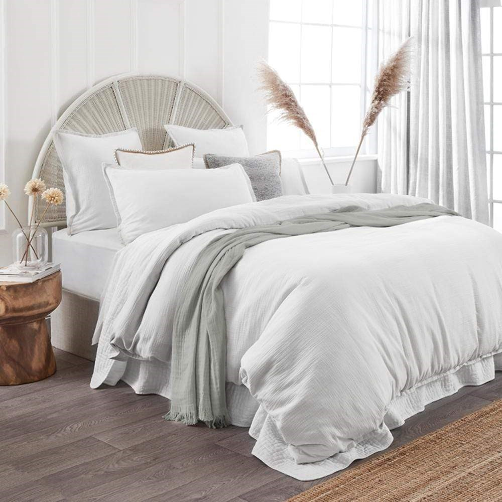 Home Beautiful Foundations Quilt Cover Set Super King White