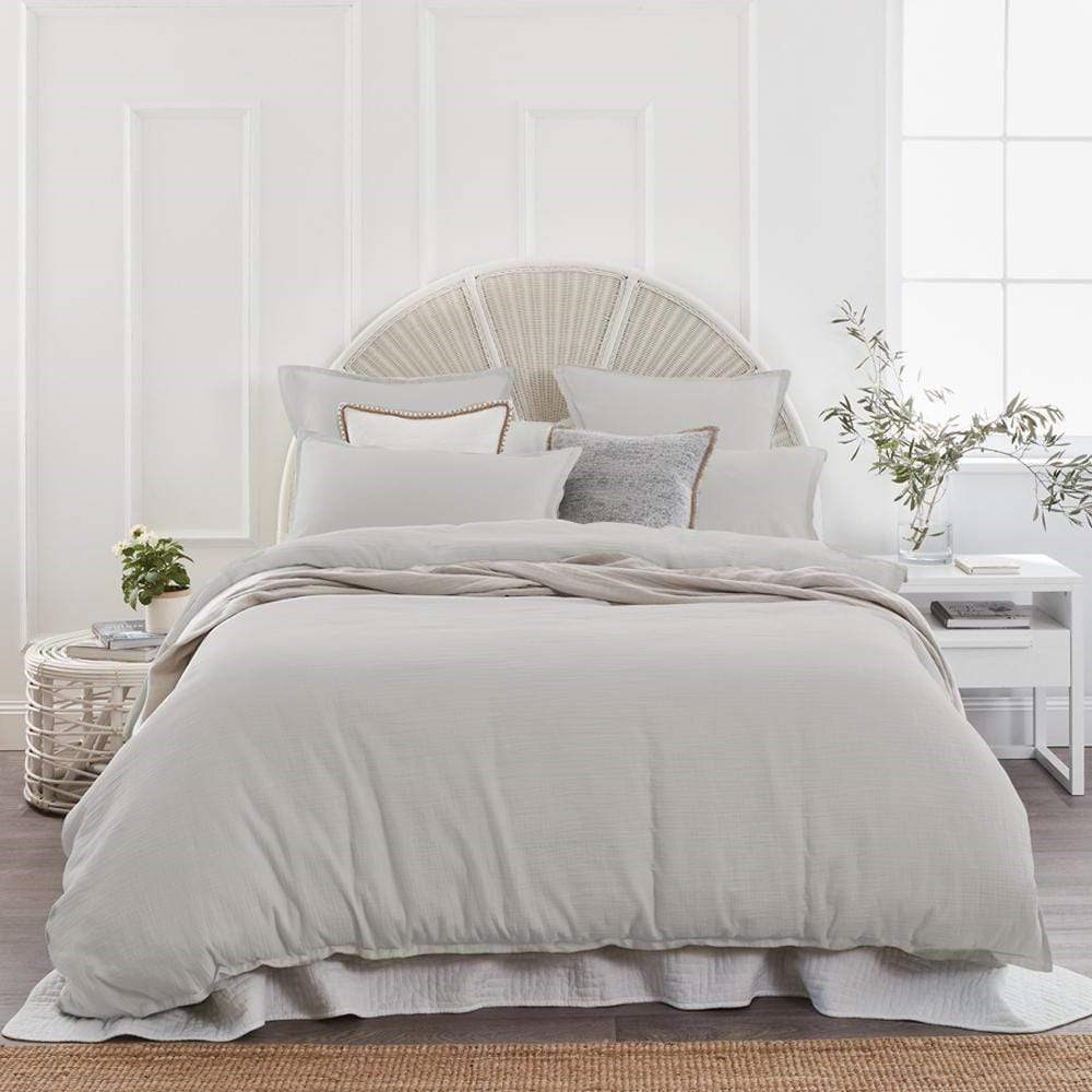 Home Beautiful Foundations Quilt Cover Set King Mist