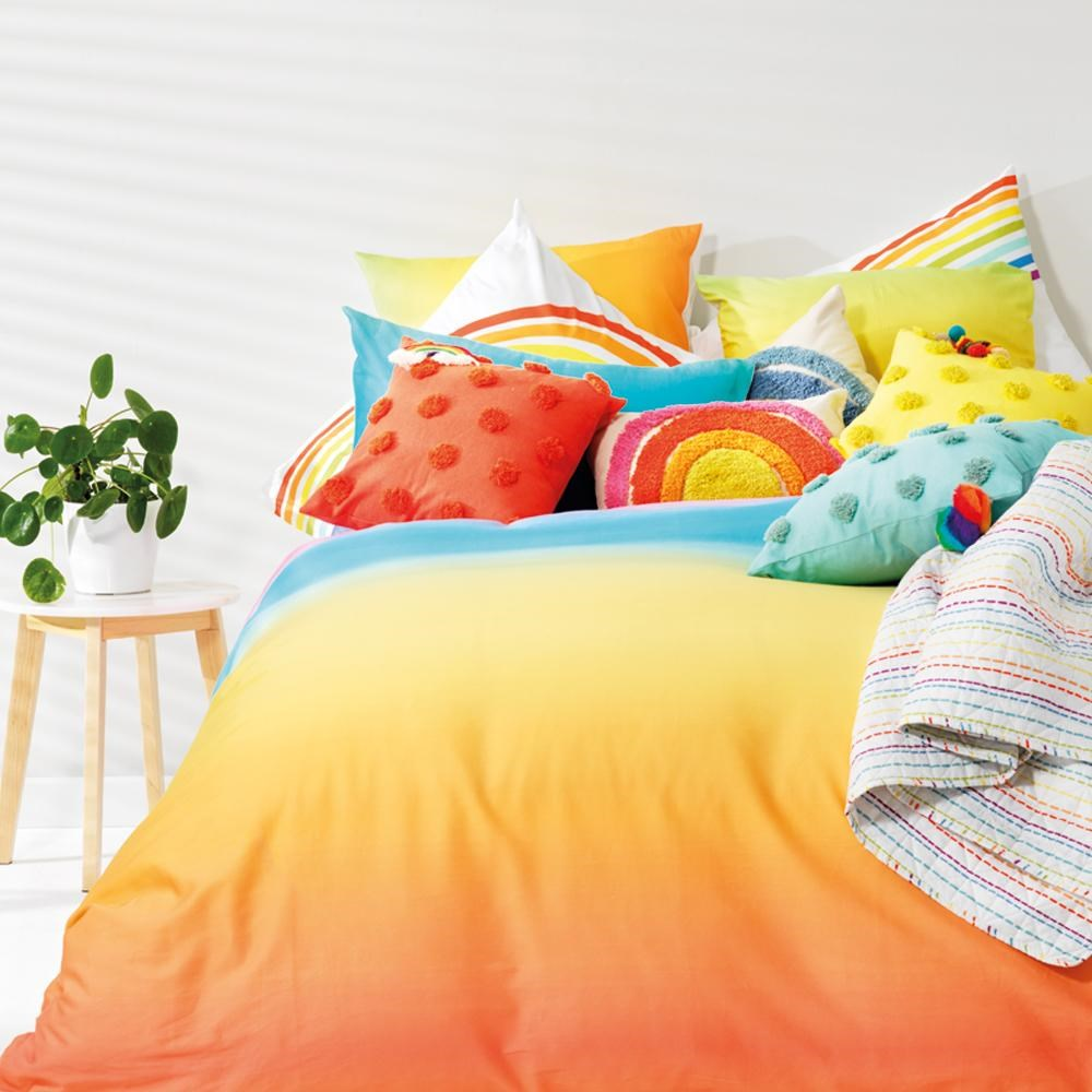 Jewelchic Ombre Quilt Cover Set King Single