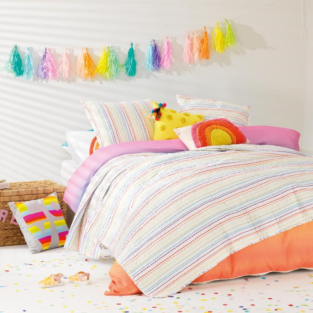 Jewelchic Stripes Coverlet Queen/King