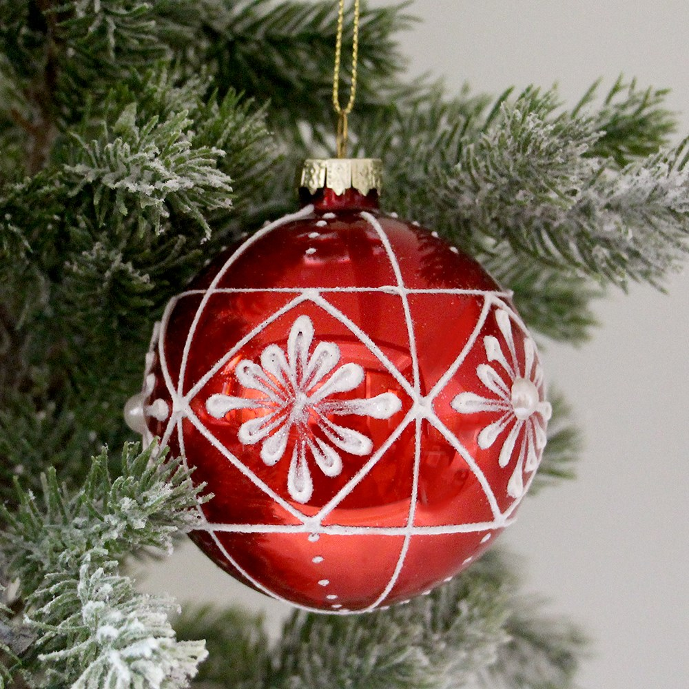 MyHouse Star Christmas Bauble Red