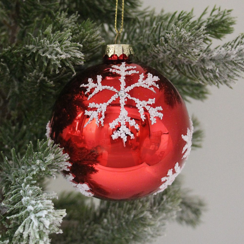 MyHouse Snowflake Christmas Bauble Red