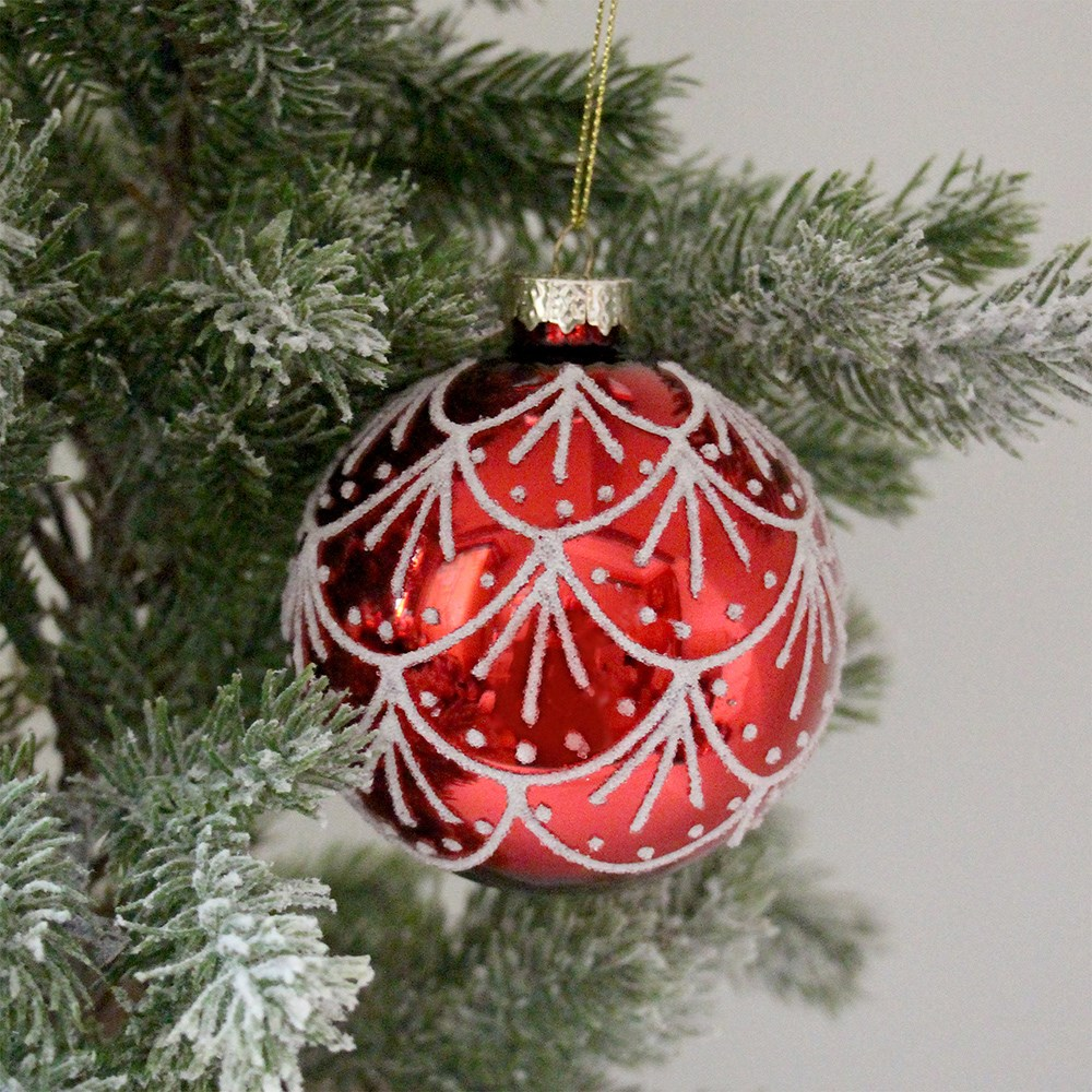 MyHouse Drape Christmas Bauble Red