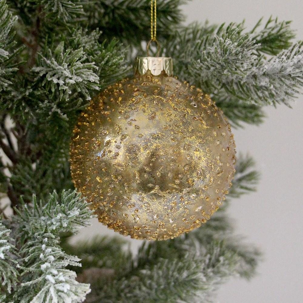 MyHouse Glass Bauble Gold
