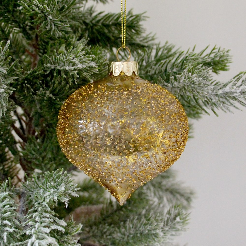MyHouse Drop Glass Bauble Gold