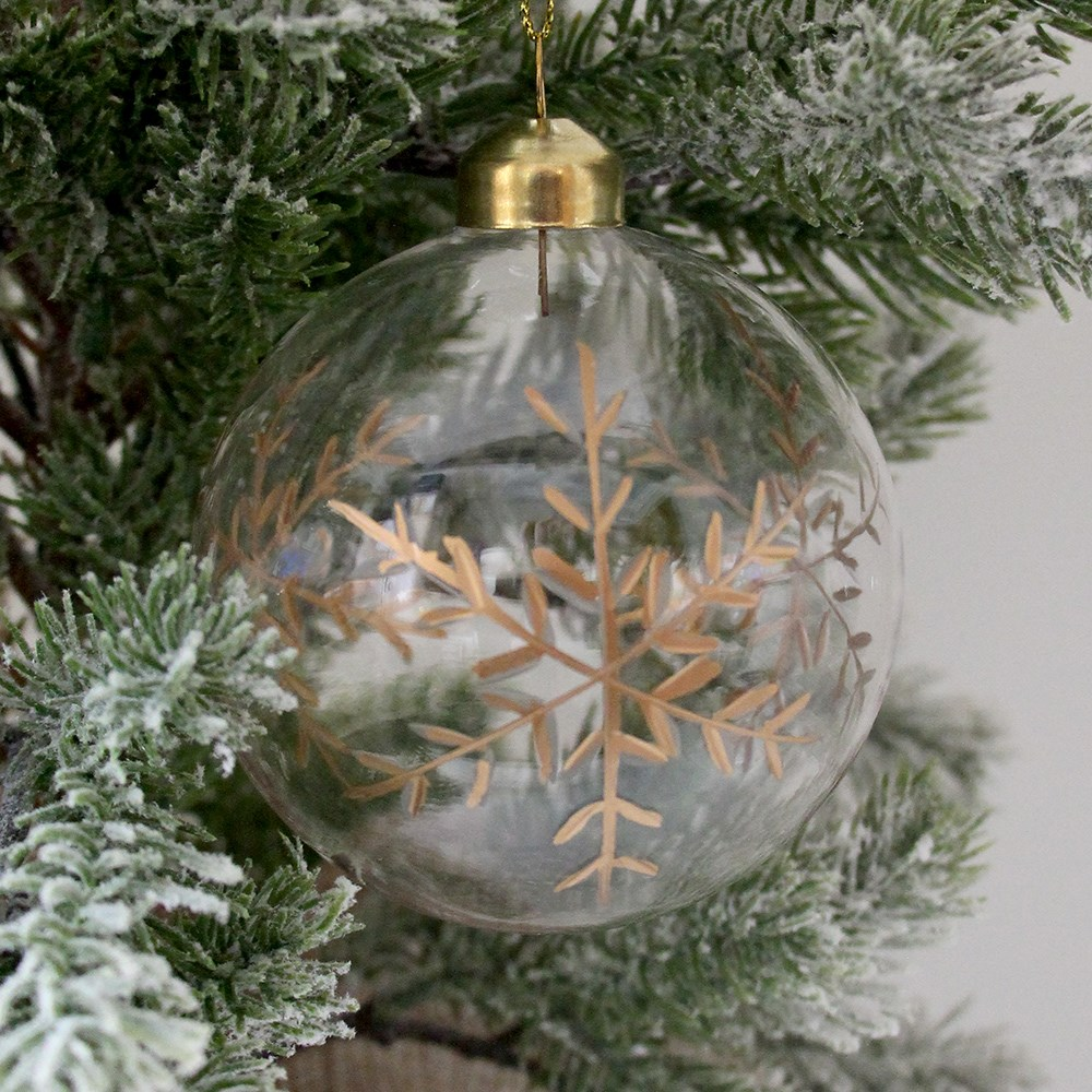 MyHouse Glitter Glass Bauble Gold