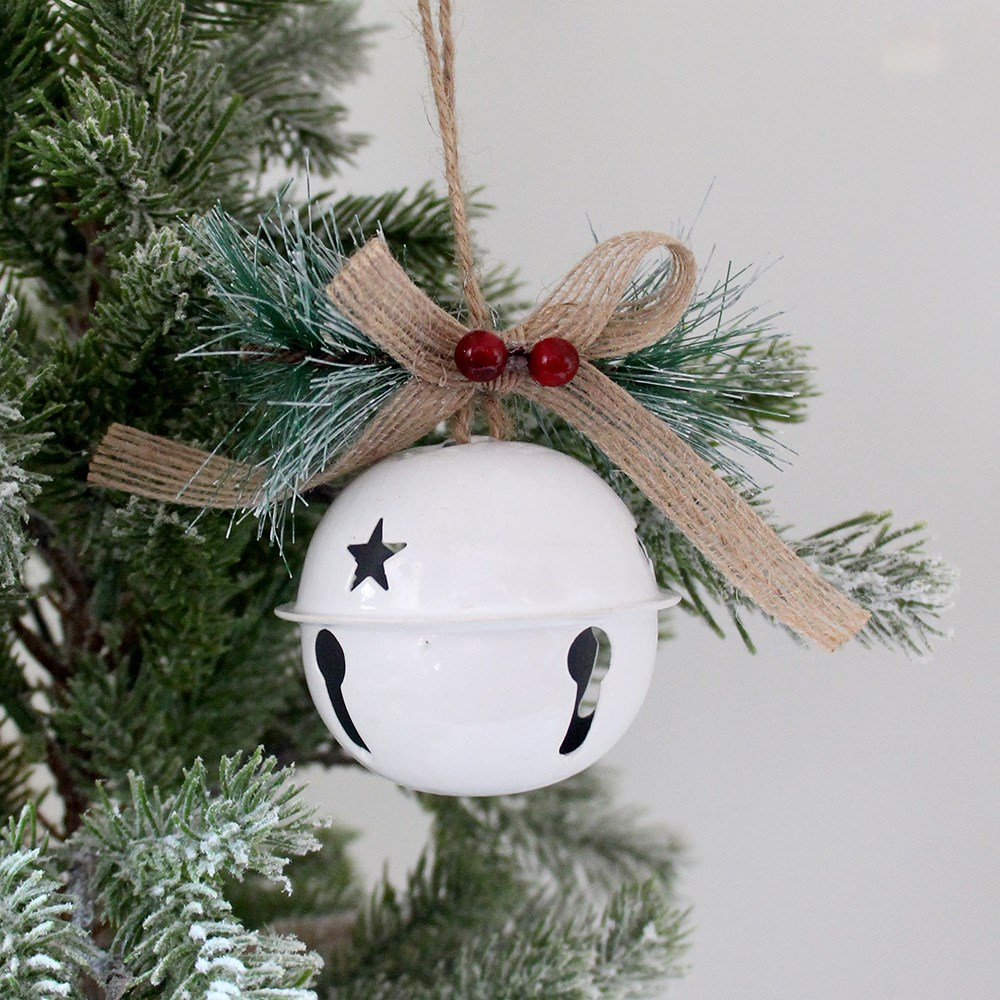 MyHouse Bell Christmas Ornament White