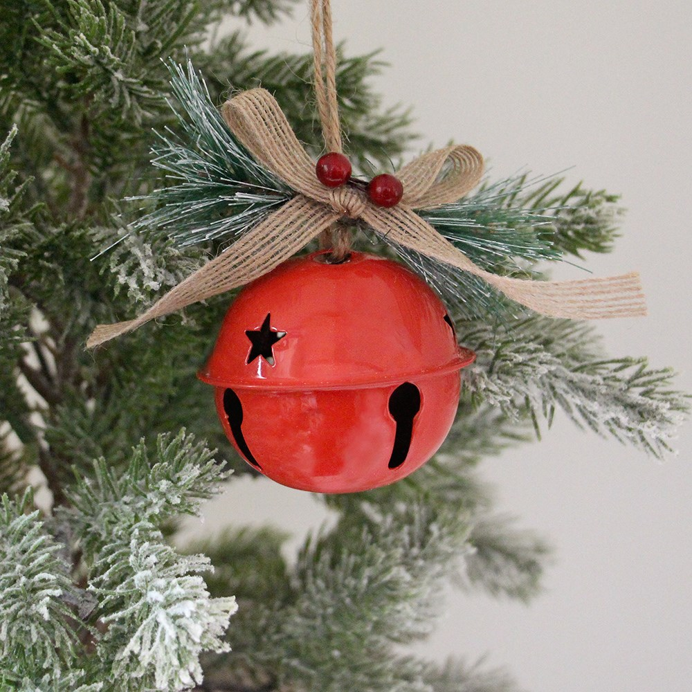 MyHouse Bell Christmas Ornament Red